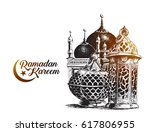 eid mubarak celebration ... | Shutterstock .eps vector #617806955
