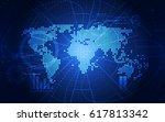 vector digital global...   Shutterstock .eps vector #617813342