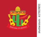mexican food logo. mexican fast ... | Shutterstock . vector #617819852
