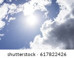 clouds on a sunny afternoon | Shutterstock . vector #617822426