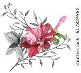 illustration of beautiful... | Shutterstock . vector #617824982