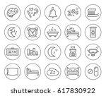set of minimal sleep time... | Shutterstock .eps vector #617830922