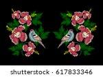 vector embroidery of ethnic... | Shutterstock .eps vector #617833346