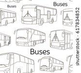 pattern of different bus or van ... | Shutterstock . vector #617834852