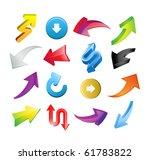 arrow icon set on white | Shutterstock .eps vector #61783822