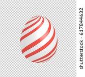 easter egg designed with hand... | Shutterstock .eps vector #617844632