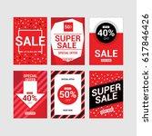 sale flyer and brochure vector... | Shutterstock .eps vector #617846426