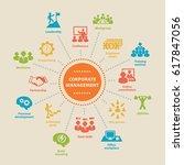 corporate management. concept... | Shutterstock .eps vector #617847056