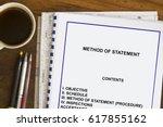 method of statement concept... | Shutterstock . vector #617855162