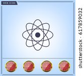 pictograph of atom | Shutterstock .eps vector #617859032
