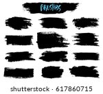 vector set of brush acrylic... | Shutterstock .eps vector #617860715