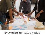 business people meeting... | Shutterstock . vector #617874038
