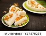 shallow depth bokeh  slices of... | Shutterstock . vector #617875295