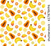 vector seamless pattern with... | Shutterstock .eps vector #617878496