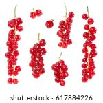 Set Of Red Currants Isolated O...