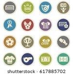 football vector icons for user... | Shutterstock .eps vector #617885702