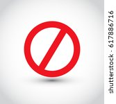 no sign  isolated  vector... | Shutterstock .eps vector #617886716