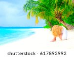 dream scape escape with beauty... | Shutterstock . vector #617892992
