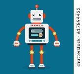 retro robot. vintage robot.... | Shutterstock .eps vector #617894432