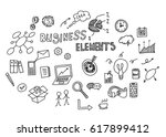 hand drawn doodle of business...   Shutterstock .eps vector #617899412