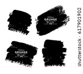 set of four black grunge... | Shutterstock .eps vector #617901902