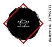grunge circle. grunge square... | Shutterstock .eps vector #617901986