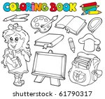 Coloring Book With School Them...