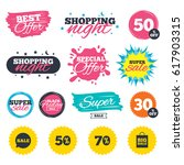 sale shopping banners. special... | Shutterstock .eps vector #617903315