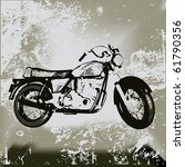 motorcycle grunge  background... | Shutterstock . vector #61790356