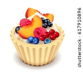 fruit cupcake isolated photo... | Shutterstock .eps vector #617910896