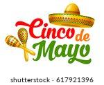 cinco de mayo emblem design... | Shutterstock .eps vector #617921396