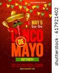 cinco de mayo poster design... | Shutterstock .eps vector #617921402