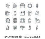 beer. set of outline vector... | Shutterstock .eps vector #617922665