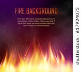 vector banner with fire. fiery... | Shutterstock .eps vector #617924072