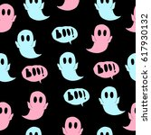 pattern of ghost. | Shutterstock .eps vector #617930132