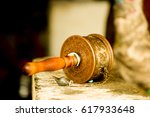 Prayer Wheel In A Buddhist...