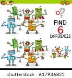 cartoon illustration of finding ... | Shutterstock . vector #617936825
