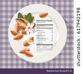 vector of nutrition facts one... | Shutterstock .eps vector #617942198