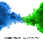 acrylic colors and ink in water.... | Shutterstock . vector #617946392