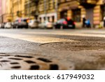 rainy day in the big city  the... | Shutterstock . vector #617949032