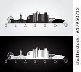 glasgow skyline and landmarks...   Shutterstock .eps vector #617950712
