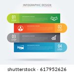 business infographic tab... | Shutterstock .eps vector #617952626