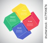 template for diagram  graph ... | Shutterstock .eps vector #617954876