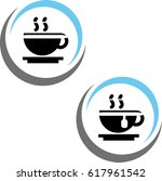 cup of tea vector | Shutterstock .eps vector #617961542