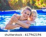 fun weekend alfresco. portrait... | Shutterstock . vector #617962196