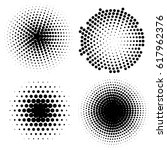 dotwork circle banners. noisy... | Shutterstock .eps vector #617962376
