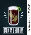 poster with alcohol cocktail.... | Shutterstock .eps vector #617963045