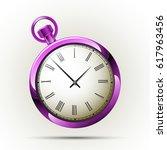 antique countdown. pocket... | Shutterstock .eps vector #617963456