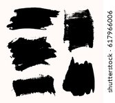a set of black ink brush... | Shutterstock .eps vector #617966006