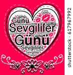 valentine's day turkish... | Shutterstock .eps vector #617967992
